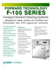 F-100 Compact Solvent Cleaning Systems